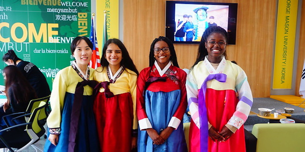 Mason Korea students in Korean dress